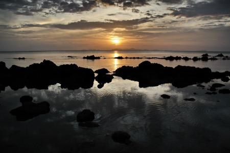 Abendstimmung-Sonne-Wasser